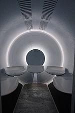 ゲートウェイアーチのエレベータ。トラムの内部。