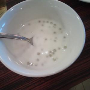 香港蒸龍のデザート・タピオカミルク