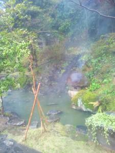 湯田温泉の庭園