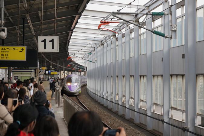 エヴァンゲリオン新幹線の「500 TYPE EVA」