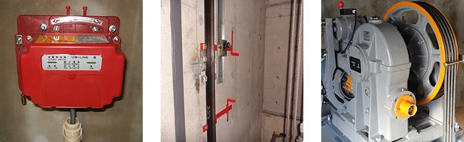 エレベーターのリニューアル工事風景